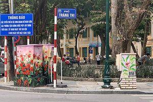 Loạt tủ điện trên tuyến phố Hà Nội 'khoác áo mới' đón Tết