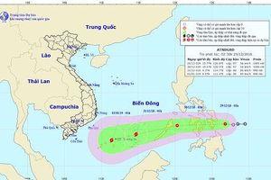 Tin áp thấp nhiệt đới mới nhất ngày hôm nay: Áp thấp mạnh thành bão, giật cấp 10
