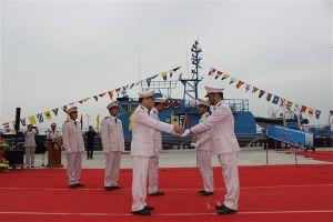 Hải quan Quảng Ninh tổ chức Lễ Thượng cờ tàu tuần tra cao tốc