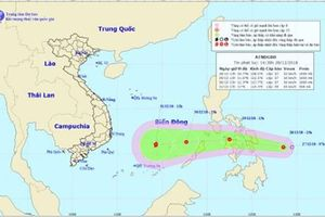 Áp thấp nhiệt đới di chuyển dần về khu vực quần đảo Hoàng Sa