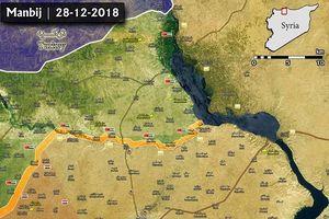 Bản đồ mới nhất về mặt trận Manbij: SAA vẫn ở ngoài thành phố