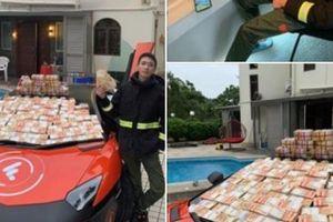 Chàng trai đi Lamborgini tạo nên một cơn mưa tiền khiến cả khu phố náo loạn