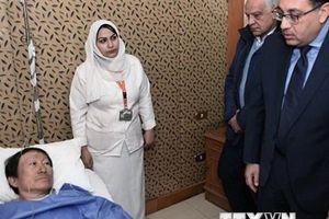 Thủ tướng Ai Cập thăm hỏi người Việt bị thương trong vụ đánh bom