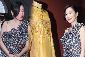 'Nhàn Phi' Xa Thi Mạn quý phái 'ngất trời' tại triển lãm thời trang 'Diên Hi Công Lược'