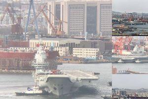Tàu sân bay tự đóng của Trung Quốc thử nghiệm với tiêm kích hạm