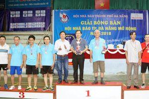 Bế mạc Giải Bóng bàn Hội Nhà báo TP Đà Nẵng mở rộng-2018