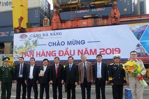 Cảng Đà Nẵng đón tấn hàng đầu tiên trong năm 2019