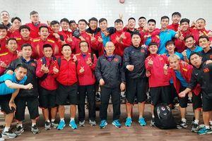 Clip đội tuyển Việt Nam chúc mừng năm mới tại Qatar