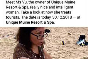 Chủ resort Unique Muine chặt lưới bóng chuyền của du khách nói gì?