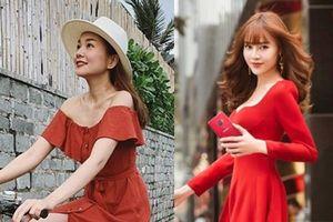 Sao Việt chuộng trang phục vang đỏ và sắc vàng chói lóa cho mùa lễ hội chào năm mới