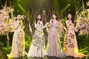 Hoa hậu Tiểu Vy cùng các người đẹp hát mừng chào đón năm mới