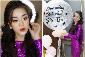 'Mỹ nhân giỏi võ' Hoàng Hải Thu diện váy tím bó sát gợi cảm trong tiệc sinh nhật