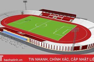Toàn cảnh sân vận động Hà Tĩnh sau khi được cải tạo, nâng cấp