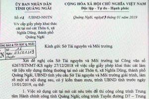Quảng Ngãi: Lãnh đạo tỉnh phát hiện một đề nghị 'lạ' từ Sở TN&MT