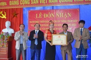 Bản Thái Sơn 1 xã Môn Sơn (Con Cuông) đón danh hiệu đạt chuẩn nông thôn mới