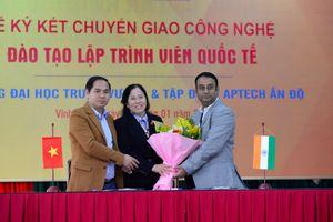 Trường đại học Trưng Vương và Tập đoàn Aptech Ấn Độ ký kết chuyển giao công nghệ đào tạo lập trình viên quốc tế