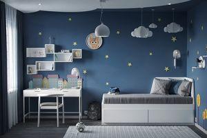 Ý tưởng trang trí góc học tập màu sắc dành cho bé