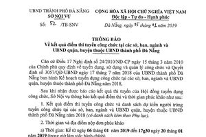 Vụ chấm lại bài thi tuyển công chức TP Đà Nẵng: 11 bài vi phạm quy chế
