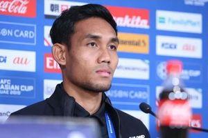 Đội trưởng Thái Lan xin lỗi cổ động viên sau trận thua đậm ở Asian Cup