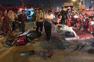 Người dân bức xúc đuổi theo xe container cán chết người đi xe máy