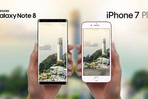 Với tầm 9 triệu đồng, nên chọn iPhone 7 Plus hay Samsung Galaxy Note 8 chơi Tết?