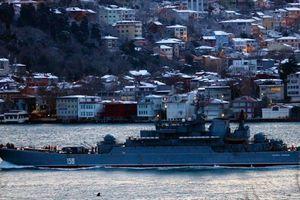 Tàu chiến Nga rời biển Đen hướng về Syria