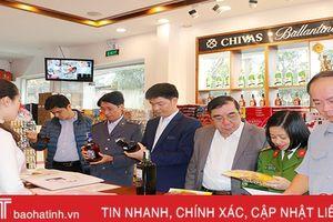 Phạt 3 cơ sở kinh doanh thực phẩm, bia rượu nhập khẩu ở TP Hà Tĩnh