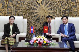 Tổng Thanh tra Chính phủ tiếp Chủ tịch Kiểm toán Nhà nước Lào