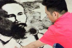 Người đàn ông có biệt tài 'họa' chân dung từ tóc