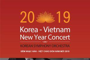 Hòa nhạc Việt - Hàn đón năm mới 2019