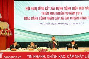 Hà Tĩnh trao bằng công nhận đạt chuẩn nông thôn mới cho 45 xã