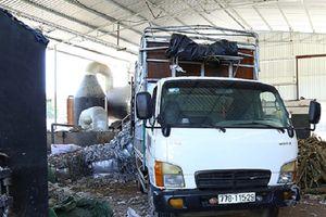 Bình Dương: Phát hiện doanh ngiệp dùng rác thải công nghiệp để đốt lò sản xuất