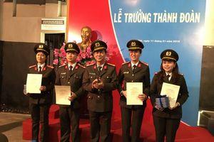 Lễ trưởng thành Đoàn cho đoàn viên Đoàn cơ sở Phòng Tham mưu, CA Hà Nội