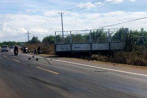 Xe tải gãy trục lao vào xe máy, 3 chị em ruột bị cán chết thương tâm