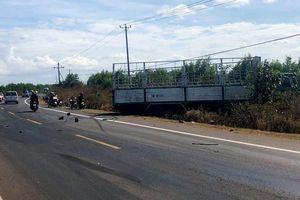 Xe tải gặp sự cố, tông chết 3 chị em ruột ở Gia Lai