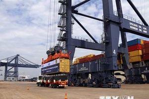 Tàu container lớn hàng đầu thế giới cập cảng quốc tế Cái Mép