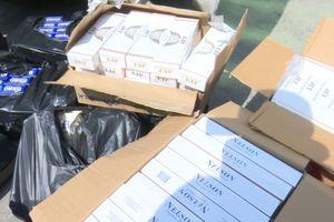 An Giang: Gần 9000 bao thuốc lá ngoại nhập lậu bị bắt giữ