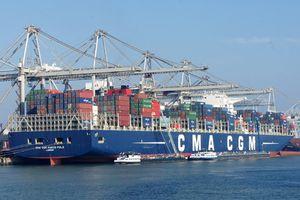 Cảng quốc tế Cái Mép đón tàu container 'siêu khủng' MARCO POLO