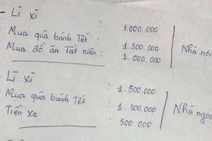 Nhìn bảng chi tiêu tiết kiệm hết mức vẫn âm 7 triệu của một cư dân mạng, chị em 'vã mồ hôi hột' với các khoản tiền dịp Tết