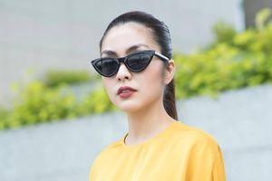 Tăng Thanh Hà làm mẫu cho các thiết kế riêng của mình