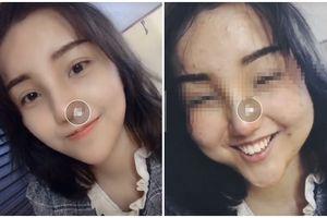 Lỡ tay tắt filter làm đẹp khi livestream, hot girl học đường bị ném đá túi bụi vì quá xấu so với ảnh photoshop