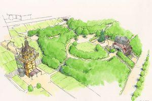 Công viên hoạt hình Studio Ghibli hé lộ những phác thảo đầu tiên