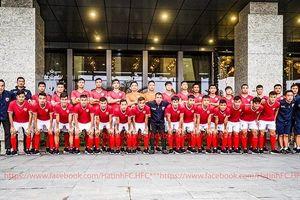 Ngày ra mắt, đội bóng đá Hồng Lĩnh Hà Tĩnh quyết tâm vô địch giải hạng Nhất