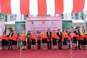 Khánh thành công trình tại khu nội trú Trường THCS Môn Sơn (Nghệ An)