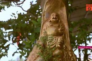 Độc đáo tượng 'ẩn mình' trên cây phục vụ Tết