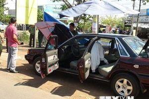 Xe ôtô của cán bộ kiểm lâm Bình Phước nghi bị đặt mìn tự chế
