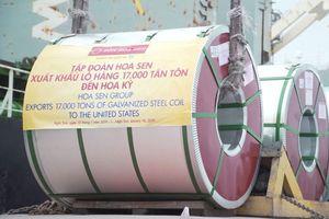 Việt Nam xuất khẩu 17.000 tấn tôn đi Mỹ