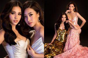 Hoa hậu Đỗ Mỹ Linh - Tiểu Vy 'đọ' sắc vóc 'một chín một mười'