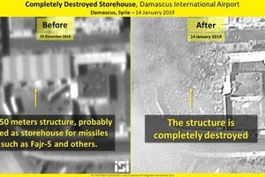 Israel công bố ảnh kết quả không kích kinh hoàng Syria