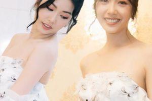 Á hậu Thúy Vân khoe vẻ đẹp mong manh với váy trễ vai